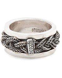 Emanuele Bicocchi - Sterling-silver Braided Ring - Lyst