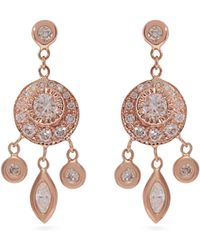 Jacquie Aiche - Dreamcatcher Diamond & Rose Gold Earrings - Lyst