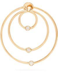 Delfina Delettrez | Diamond & Yellow-gold Hoop Single Earring | Lyst