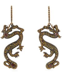 Valentino - Dragon Crystal Embellished Earrings - Lyst