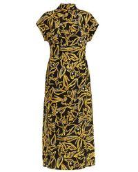 Diane von Furstenberg - Elsden-print High-neck Silk-crepe Dress - Lyst