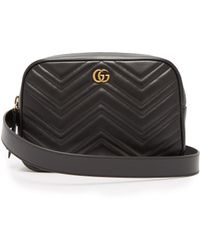 e32326d7796f Gucci - Gg Marmont Quilted Leather Belt Bag - Lyst