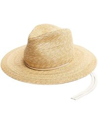 Lola Hats | Marseille Leather-trimmed Straw Hat | Lyst