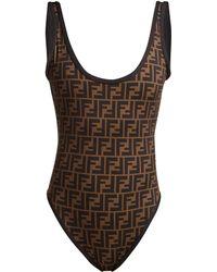 Fendi - Roma Reversible Printed Swimsuit - Lyst
