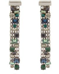 Lanvin - Crystal-drop Clip On Earrings - Lyst