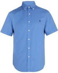Polo Ralph Lauren - Logo Embroidered Short Sleeve Cotton Shirt - Lyst