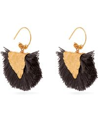Elise Tsikis - Agia Gold Plated Tassel Earrings - Lyst