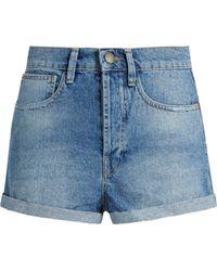 Raey - Low Cut Off Denim Shorts - Lyst