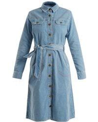 M.i.h Jeans - Newton Waist Tie Cotton Corduroy Dress - Lyst