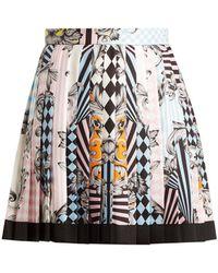 Versace - Harlequin-print Silk Skirt - Lyst
