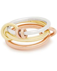 Spinelli Kilcollin - Raneth Silver, Yellow & Rose-gold Ring - Lyst