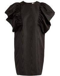 MSGM - Oversized Ruffled Sleeve Moire Dress - Lyst