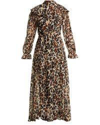 Sonia Rykiel - Leopard Print Silk Maxi Dress - Lyst