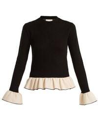 Khaite - Claudia Bell Cuff Knitted Wool Blend Jumper - Lyst