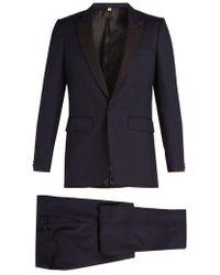 Burberry - Contrast-lapel Single-breasted Wool Tuxedo - Lyst