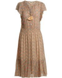 Vanessa Bruno | Floral-print Tassel Tie-front Dress | Lyst