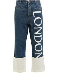 Loewe - Fisherman Cropped Straight Leg Jeans - Lyst