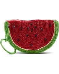 Sensi Studio - Watermelon Toquilla-straw Clutch - Lyst