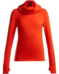 Paco Rabanne - Logo-taped Stretch-jersey Hooded Sweatshirt - Lyst