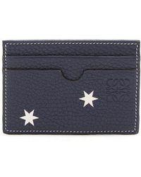 Loewe - Star-print Leather Cardholder - Lyst