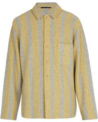 Haider Ackermann - Wool And Cashmere Blend Knitted Shirt - Lyst