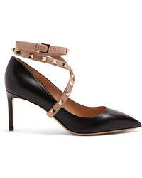 Valentino - Studwrap Leather Pumps - Lyst