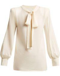 Chloé - Tie-neck Wool Jumper - Lyst