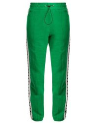 MSGM - Logo-print Cotton Track Trousers - Lyst