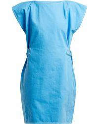 MM6 by Maison Martin Margiela - Contrast Stitch Belted Cotton Dress - Lyst