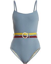 Solid & Striped   The Nina Waist-belt Swimsuit   Lyst
