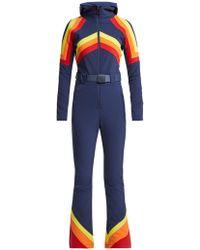 Perfect Moment - Tignes Chevron Panel Technical Hooded Ski Suit - Lyst