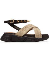 Marques'Almeida Raffia Strapped Platform Sandals