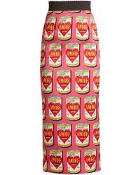 Dolce & Gabbana   Pop Art-print Midi Skirt   Lyst