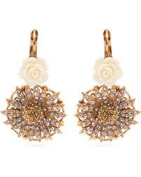 Dolce & Gabbana - Crystal Embellished Rose & Daisy Earrings - Lyst