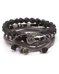 M. Cohen - The Create Stack Ii Beaded Silver Bracelet - Lyst