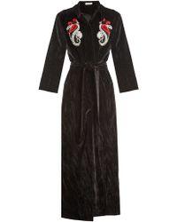 Attico | Mua Embellished Cotton-velvet Robe Coat | Lyst