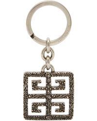 Givenchy - 4g Logo Engraved Metal Keyring - Lyst