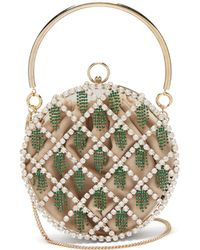 Rosantica By Michela Panero - Gautier Crystal Embellished Cage Clutch - Lyst