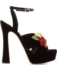 Sophia Webster - Lilico Crystal Embellished Suede Platform Sandals - Lyst