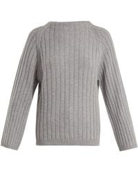 Queene And Belle - Aster Ribbed Knit Cashmere Sweater - Lyst