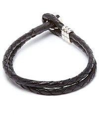 Paul Smith - Double-wrap Leather Bracelet - Lyst
