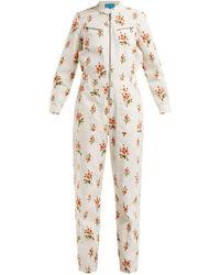 8ffed541fb69 M.i.h Jeans - Margot Floral Print Corduroy Jumpsuit - Lyst