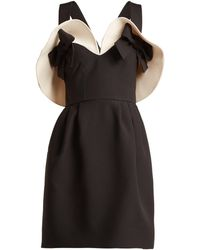 Valentino Bow Detailed Wool And Silk Blend Dress