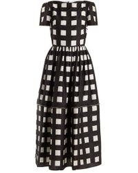 Christopher Kane - Zip Hem Square Print Silk Dress - Lyst