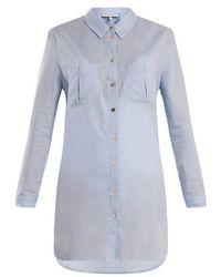 Heidi Klein - St Barths Herringbone Cotton Shirt - Lyst
