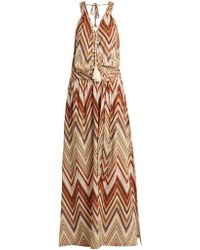 Melissa Odabash - Jacquie Zigzag Print Maxi Dress - Lyst