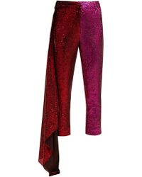 Halpern - Draped Sequin Embellished Trousers - Lyst