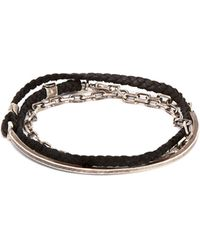 Title Of Work - Sterling Silver And Leather Cord Bracelet - Lyst