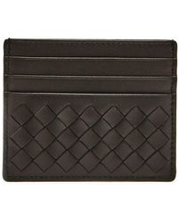 Bottega Veneta - Intrecciato Leather Cardholder - Lyst