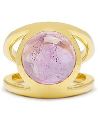 Theodora Warre - Amethyst And Gold-plated Pinky Ring - Lyst